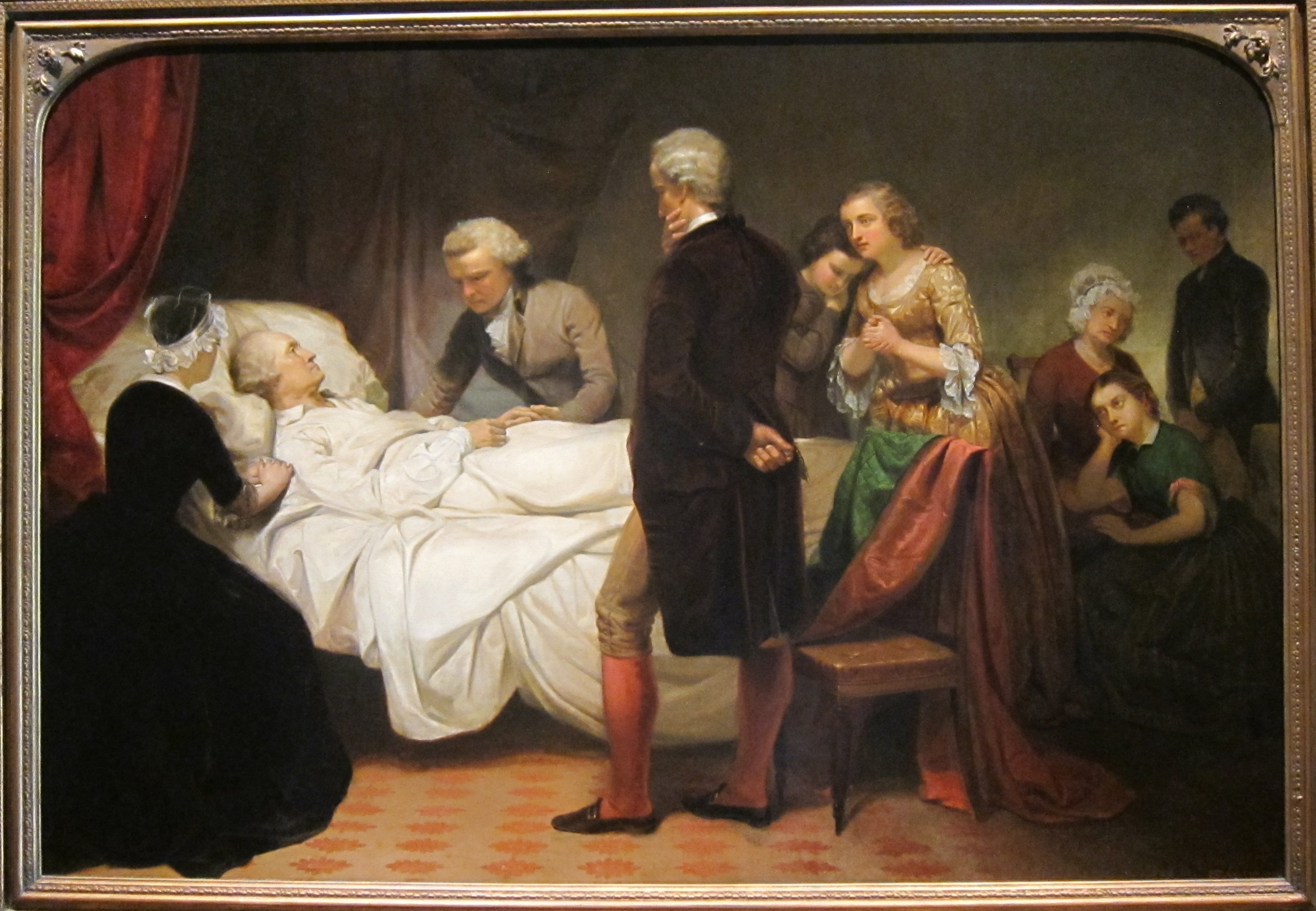 Image result for George Washington on death bed