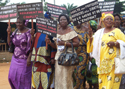 A women's rights march in Lokossa