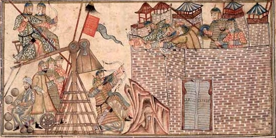 Mahmud ibn Sebuktegin attacks the fortress of Zarang.jpg