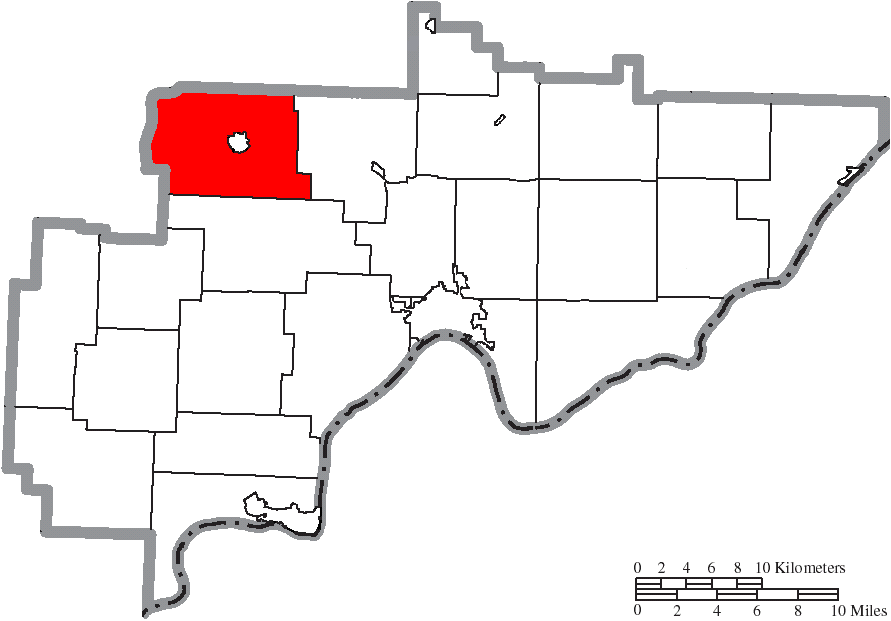 FileMap of Washington County Ohio Highlighting Waterford Township