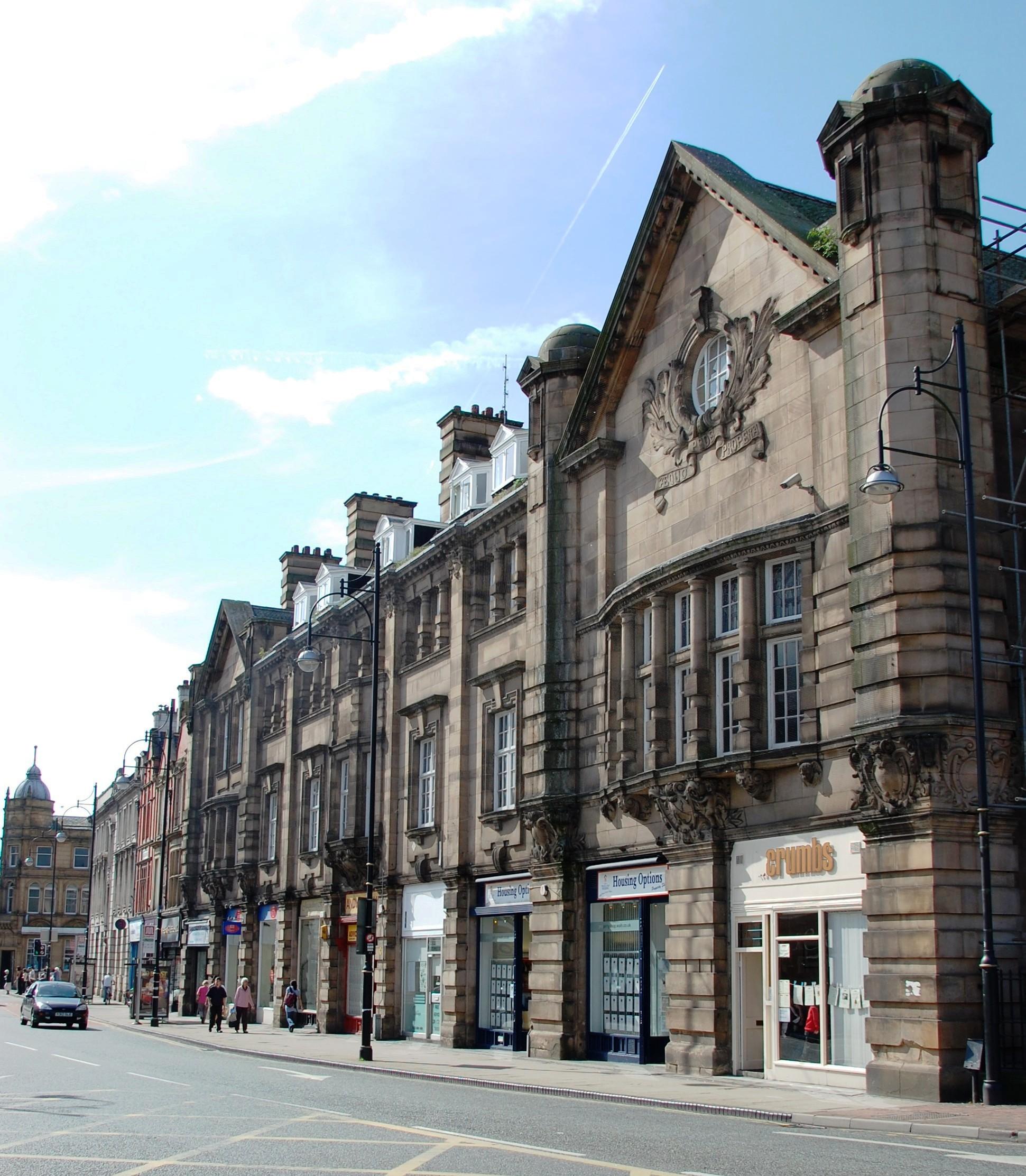 terraced row of buildings