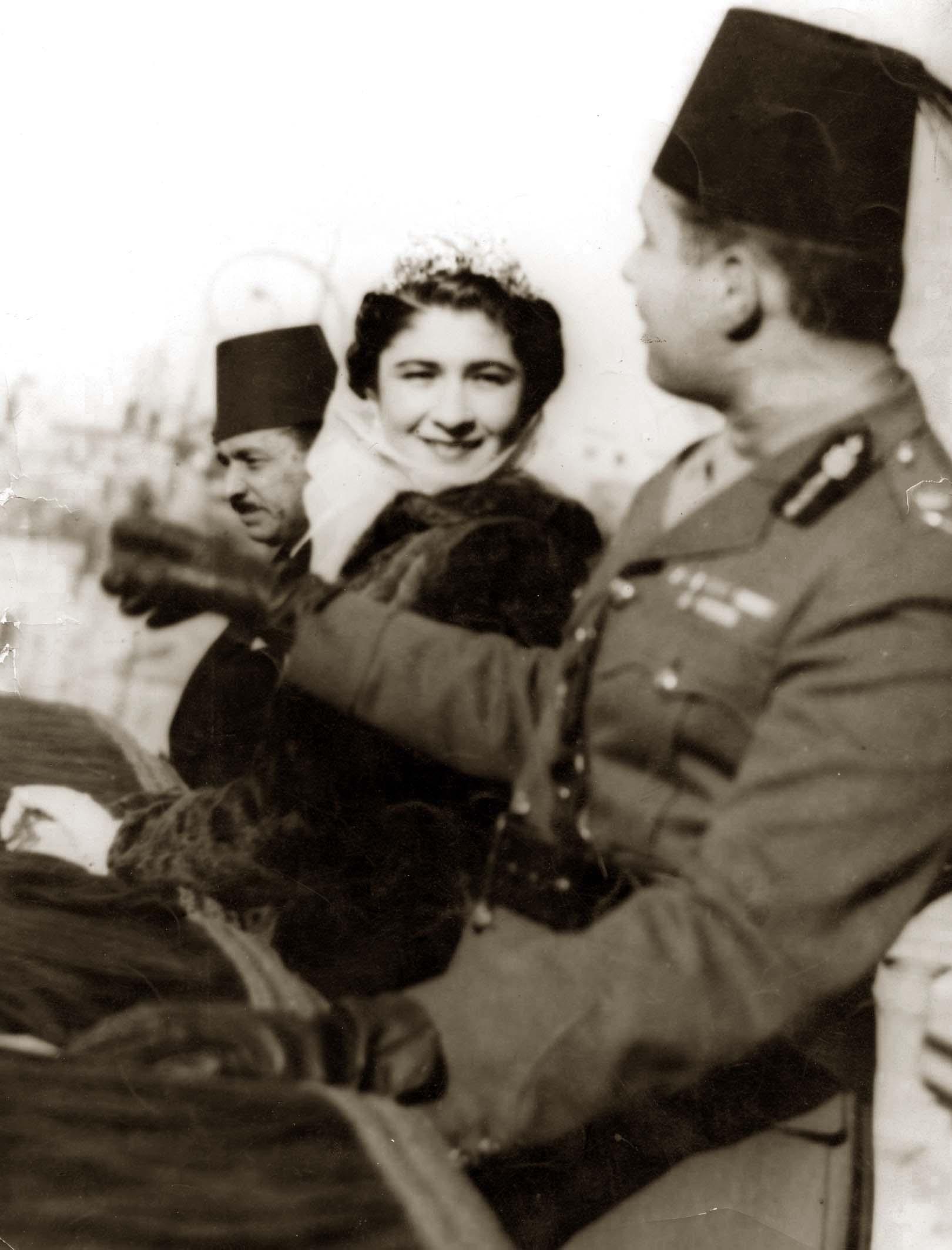 Image result for زفاف الملك فاروق وصافيناز