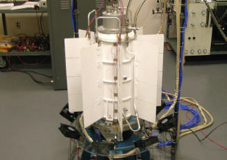 The Multi-mission radioisotope thermoelectric generator (MMRTG), used in several space missions such as the Curiosity Mars rover Msl-MMRTG.jpg