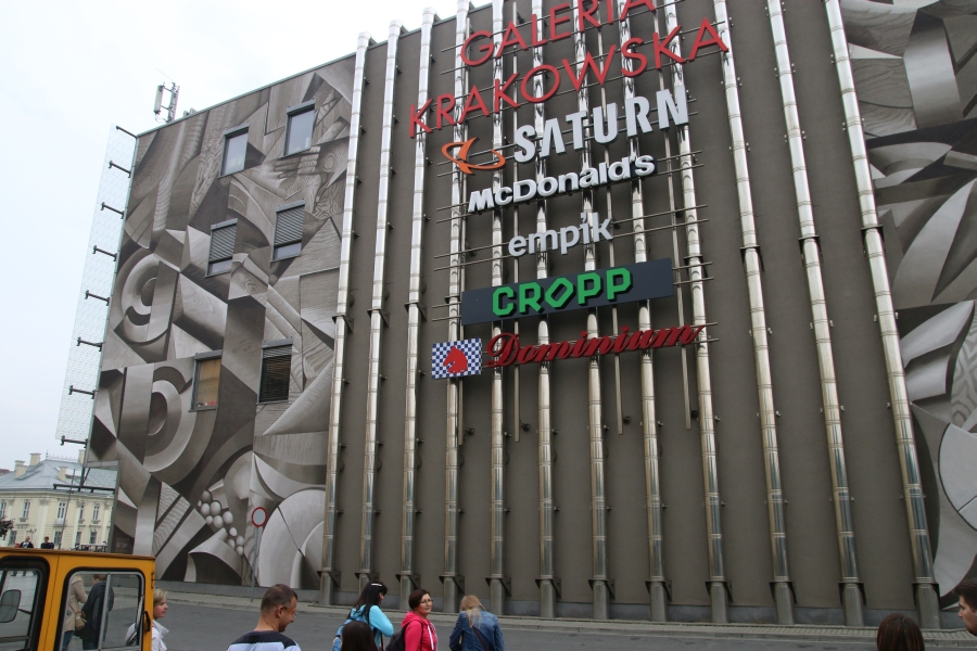 File Mural Krakow Shopping Mall Pawia Street Krakow Poland Wikimedia Commons