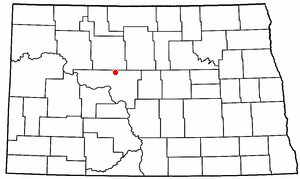 Location of Max, North Dakota