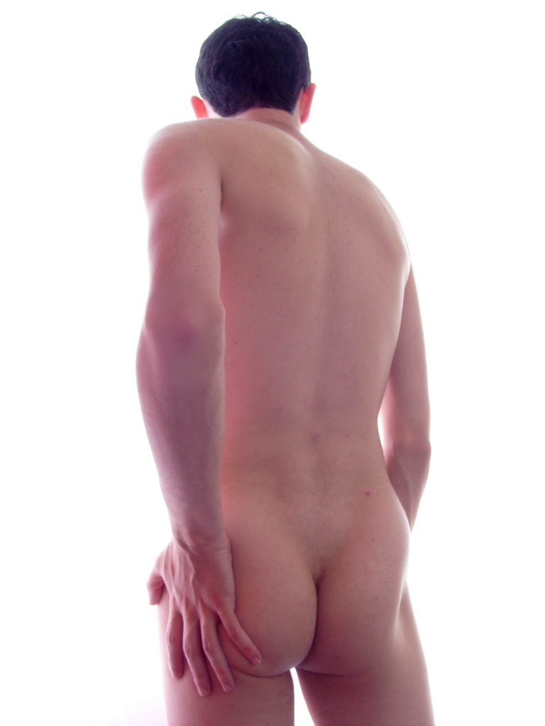 male nude from behind