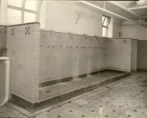 File Old Gym W Amp J 1938 Shower Area Jpg Wikimedia Commons