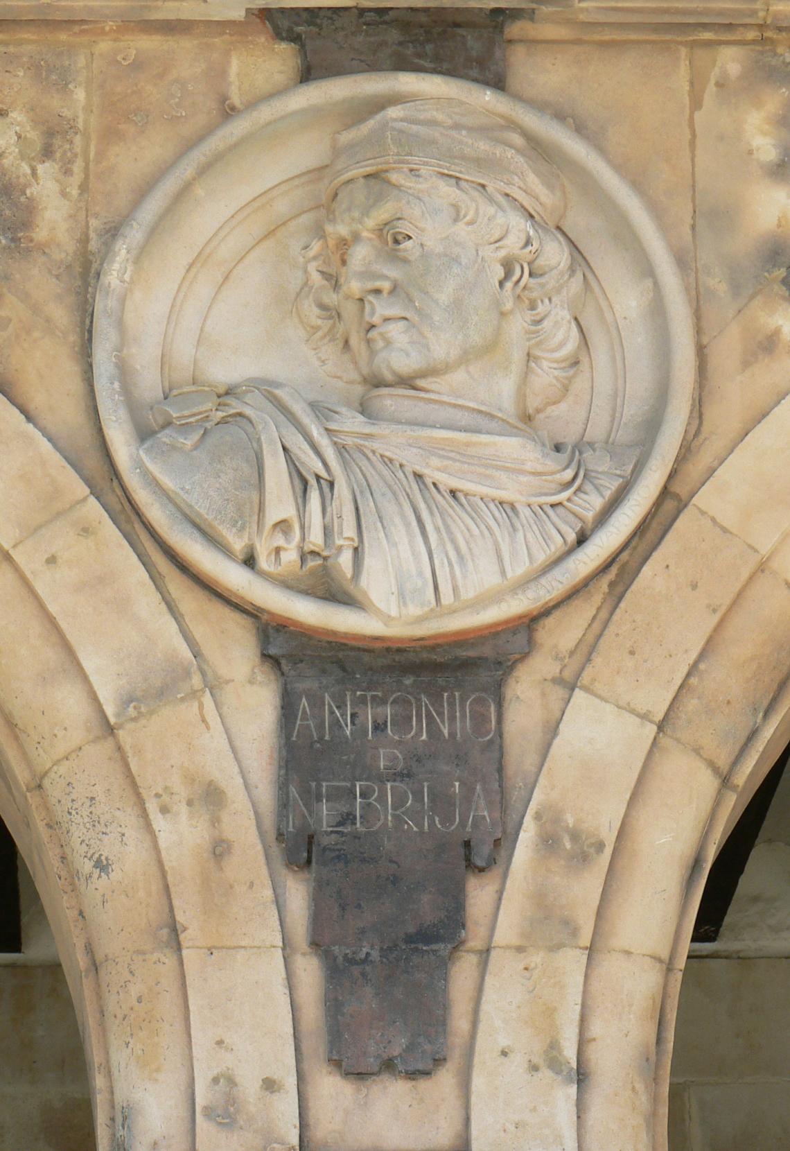 Pabellón Petrineros medallón 16 Antonio de Nebrija.JPG