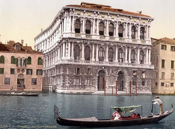 Pesaro Palace, Venice, Italy 1890s