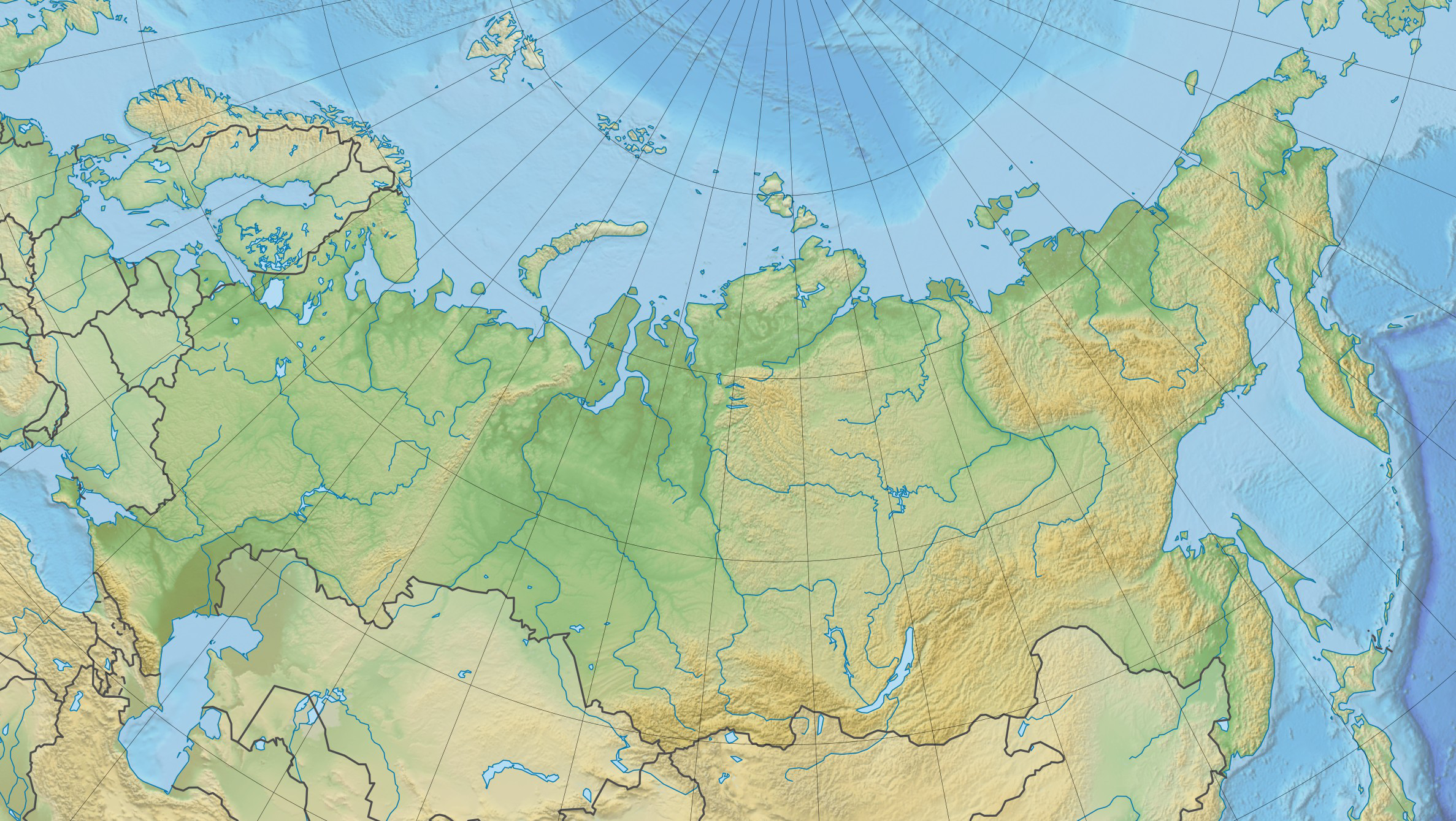 FileRussia Physical Location Mapjpg Wikimedia Commons - Physical map of russia