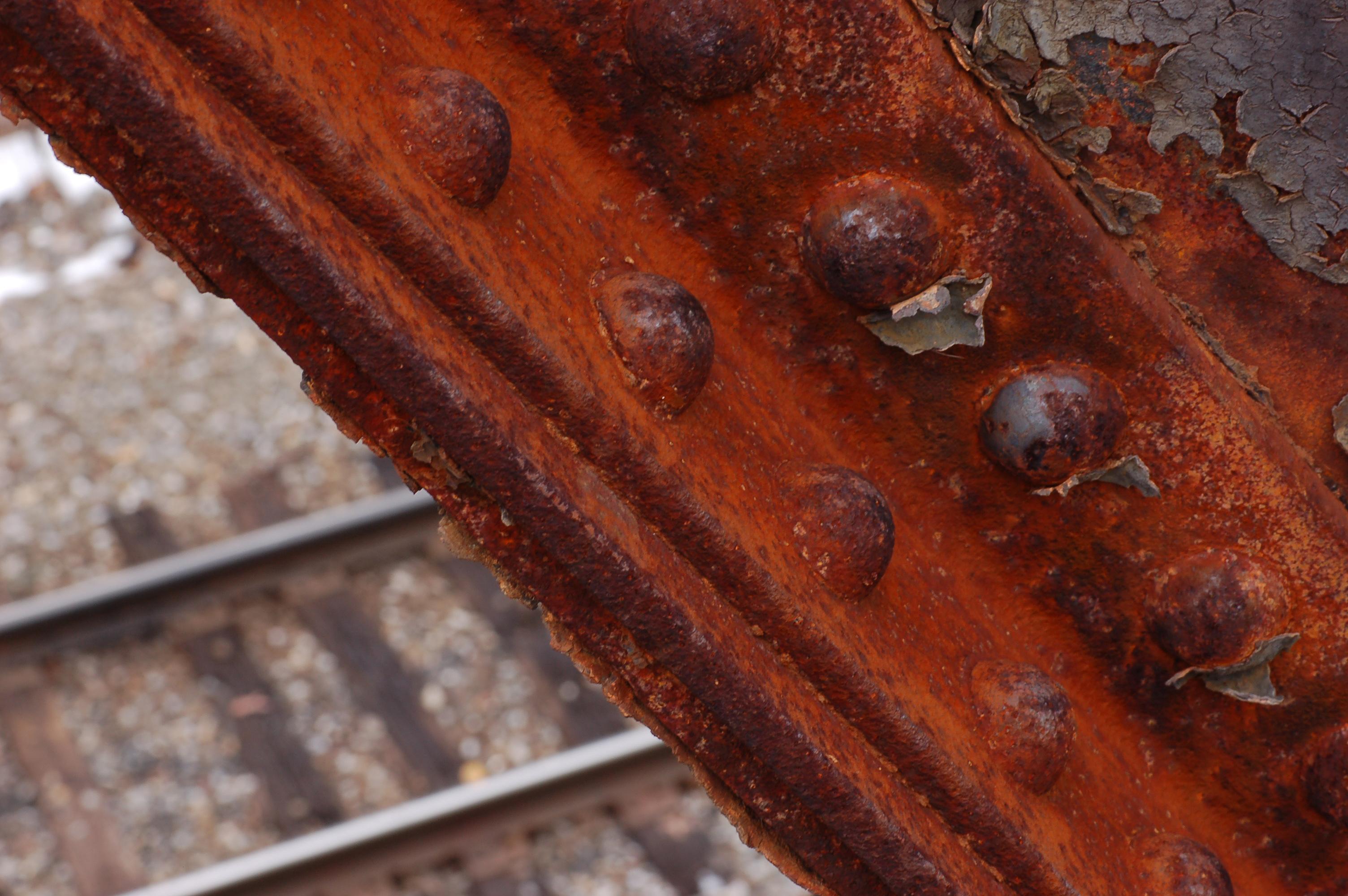 Peça de ferro oxidada