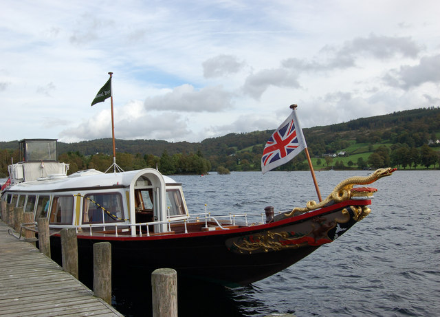 S Y Gondola at Coniston pier - geograph.org.uk - 570707