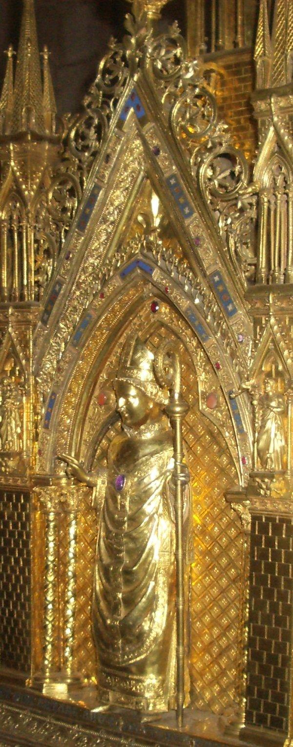 Den hellige Taurinus, detalj fra hans skrin i Évreux