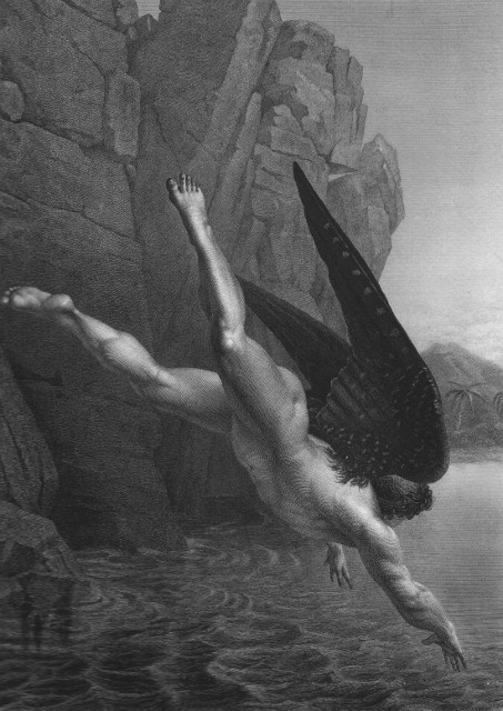 Satana si tuffa nel fiume Stige