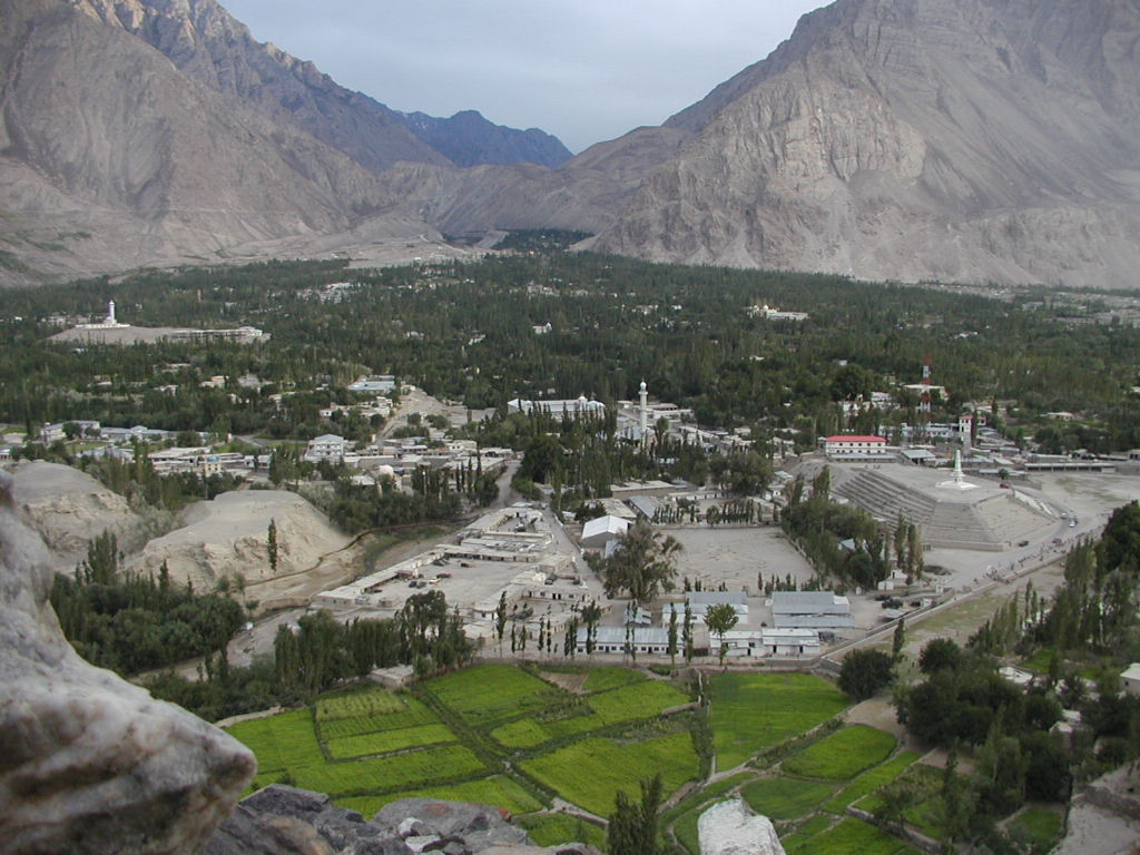 Skardu in the Northern Areas, is the point of departure for mountaineering expeditions in the Karakorams.