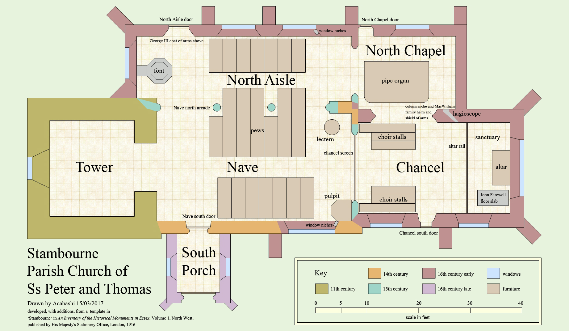 File ss peter and thomas 39 church stambourne essex for Floor plan church