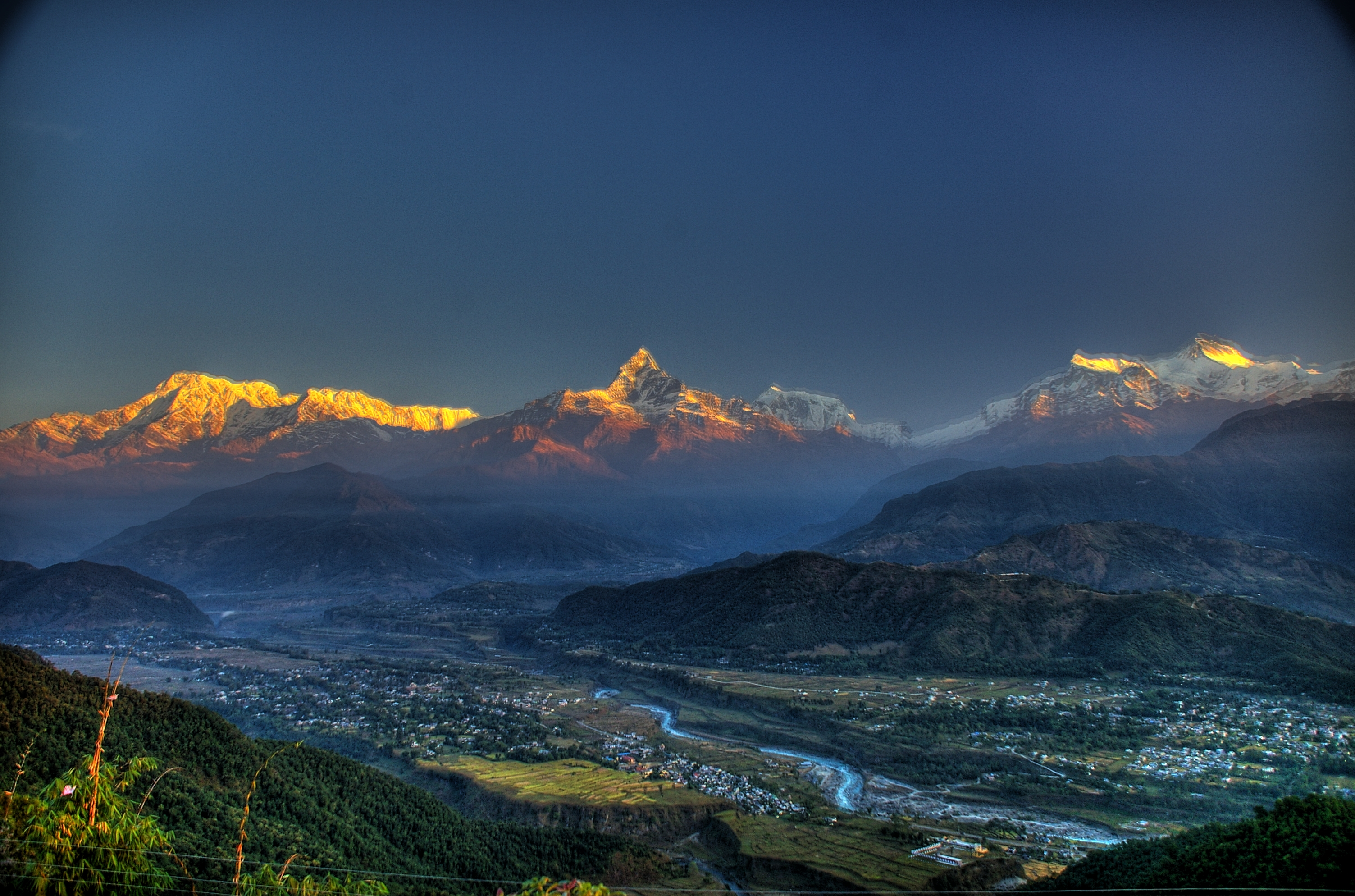 Pokhara Nepal  City new picture : Description The Fishtail and Pokhara, Nepal 3317990489