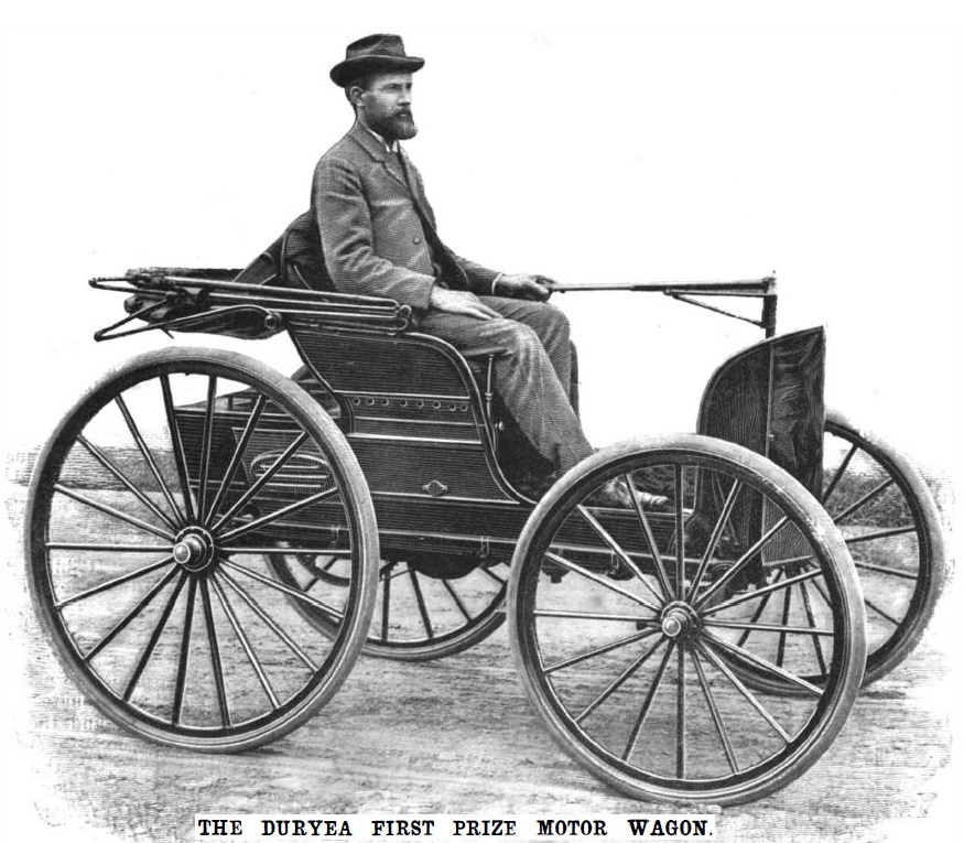 Duryea Motor Wagon First Car Crash