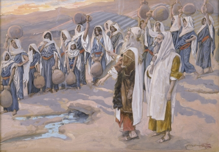Moses in the Desert with Sons & Followers