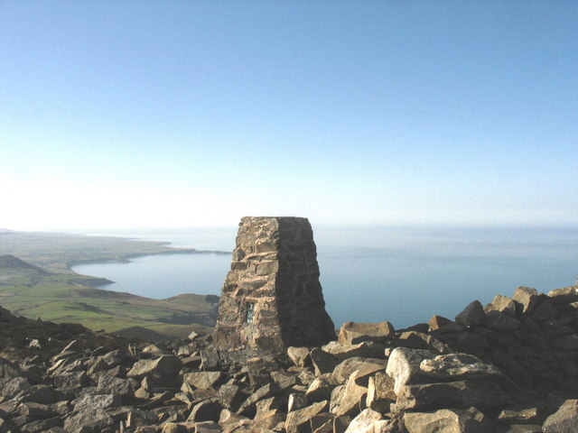Triangulation pillar on the summit of Yr Eifl - geograph.org.uk - 698302