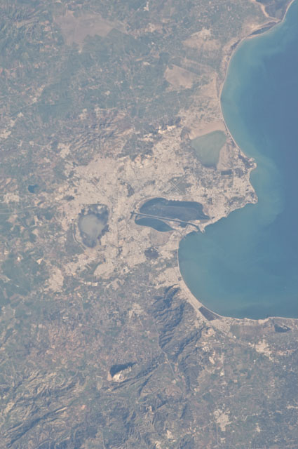 Tunis as viewed from space Tunis, Tunisia.JPG