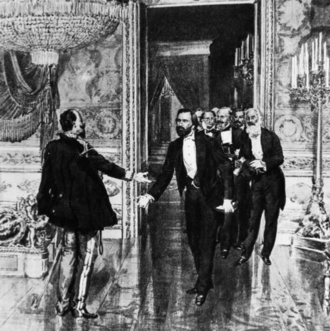 Encuentro en Turín entre Giuseppe Verdi y el rey Víctor Manuel el 15 de septiembre de 1859