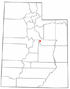 Location of Scofield, Utah