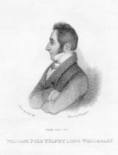 William Pole-Tylney-Long-Wellesley, 4th Earl of Mornington, drawing about 1812. From Wikimedia Commons