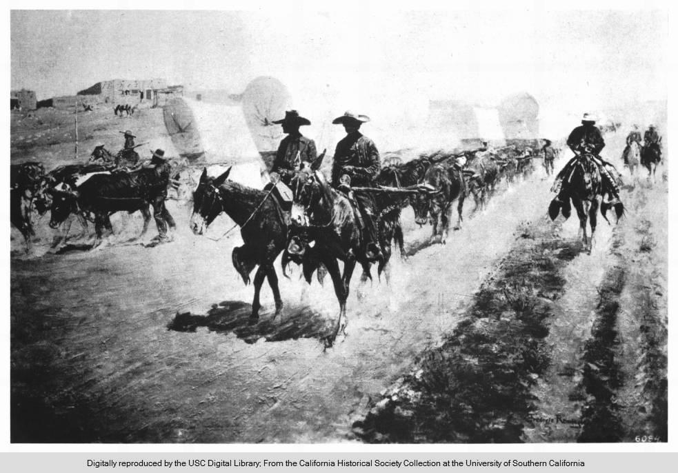 "Santa Fe College >> File:""The Old Santa Fe Trail"", by Frederic Remington.jpg ..."