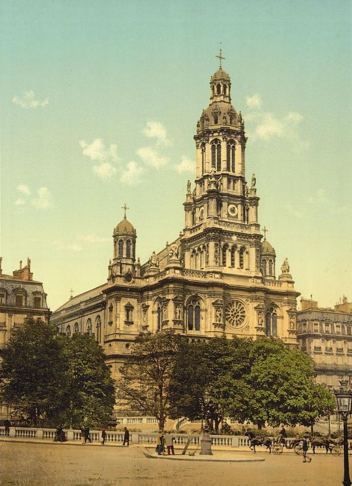 Iglesia de la Santa Trinidad de París, donde tuvo lugar la misa del funeral de Bizet el 5 de junio de 1875.
