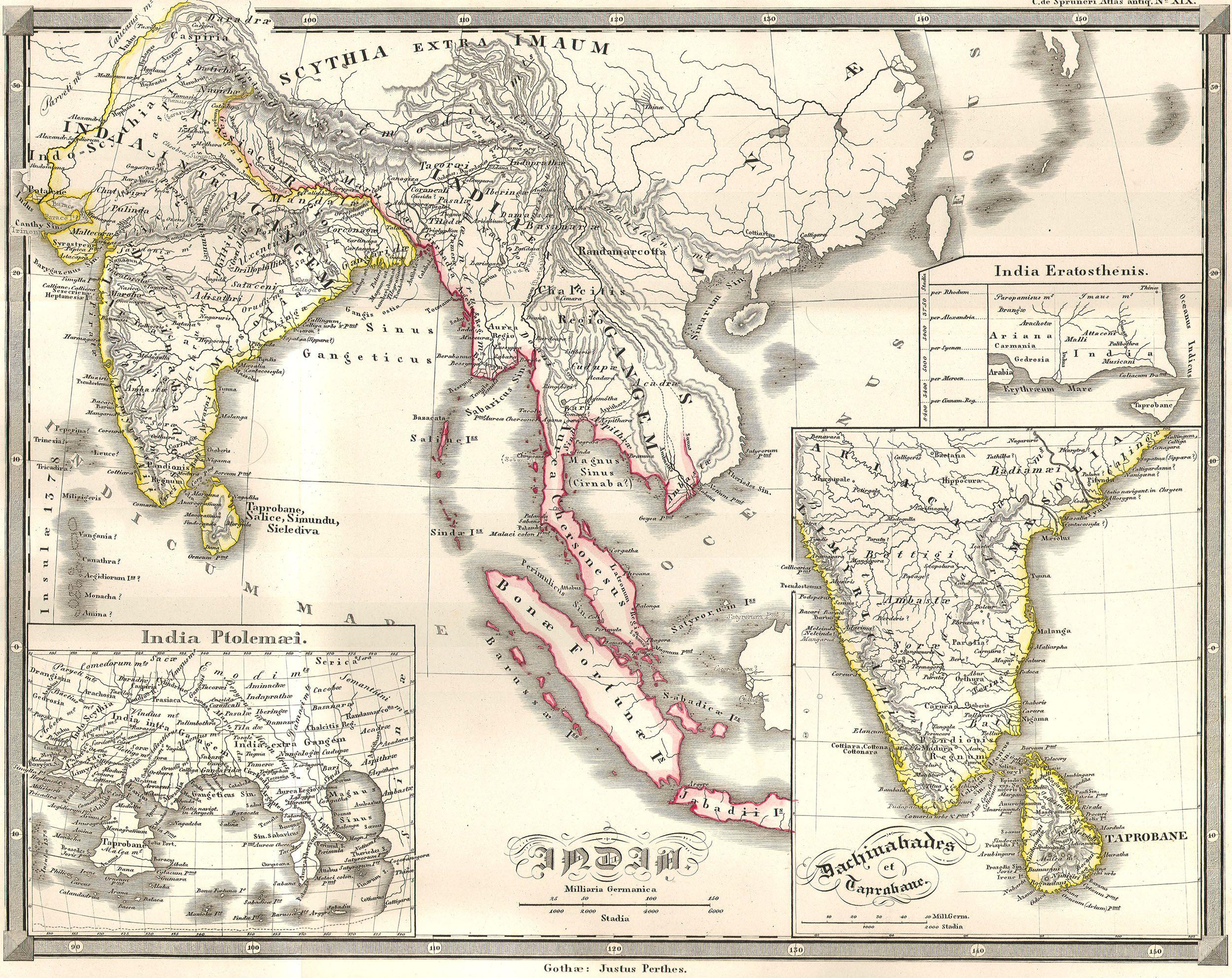 Map Of Asia 1914.File 1855 Spruneri Map Of India And Southeast Asia In Ancient Times