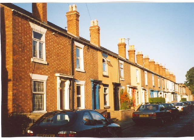 File A Row Of Houses In Castle Fields Shrewsbury