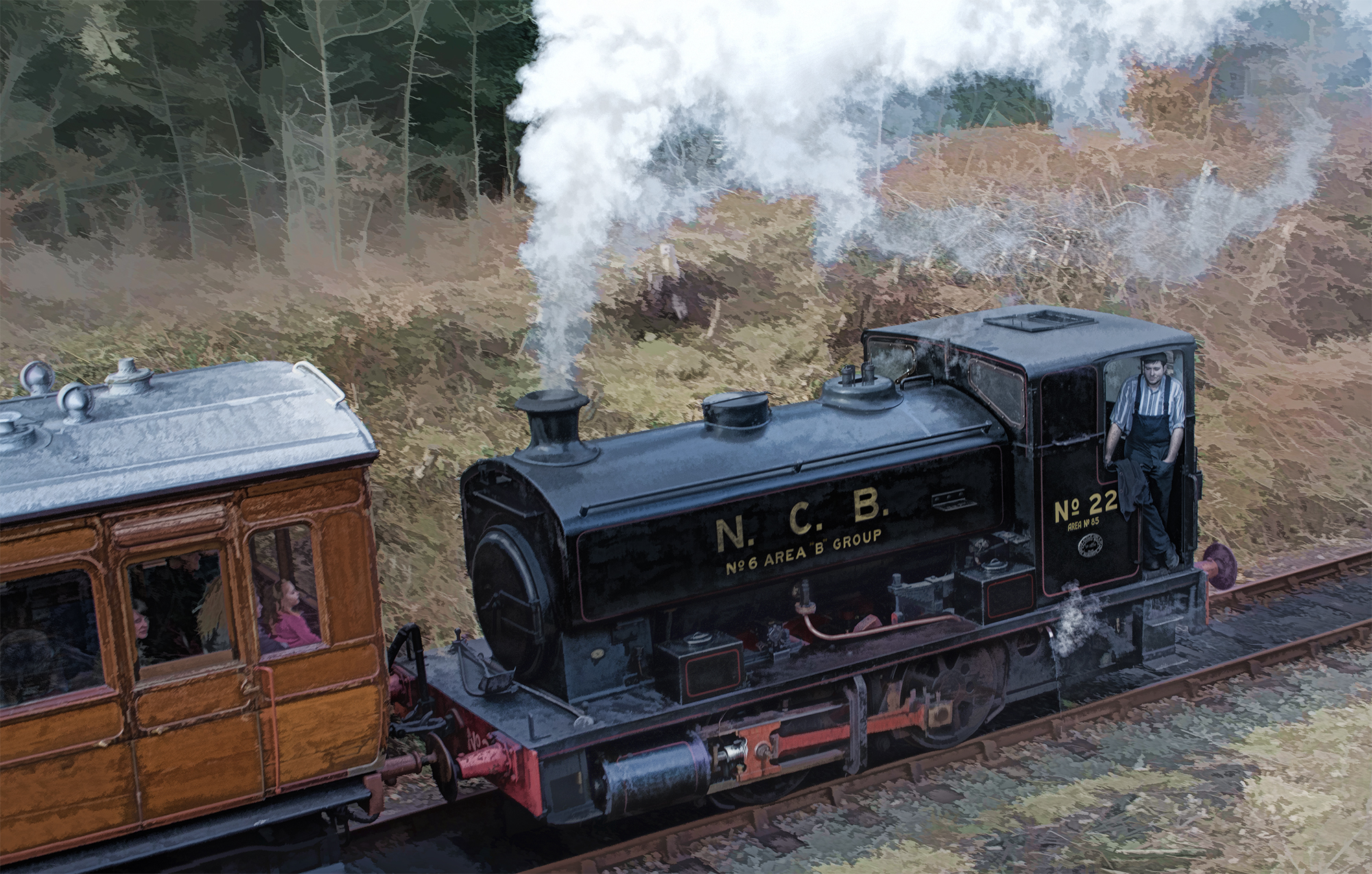 File:Andrew Barclay tank locomotive No. 2274, Beamish Museum, 30 March 2013