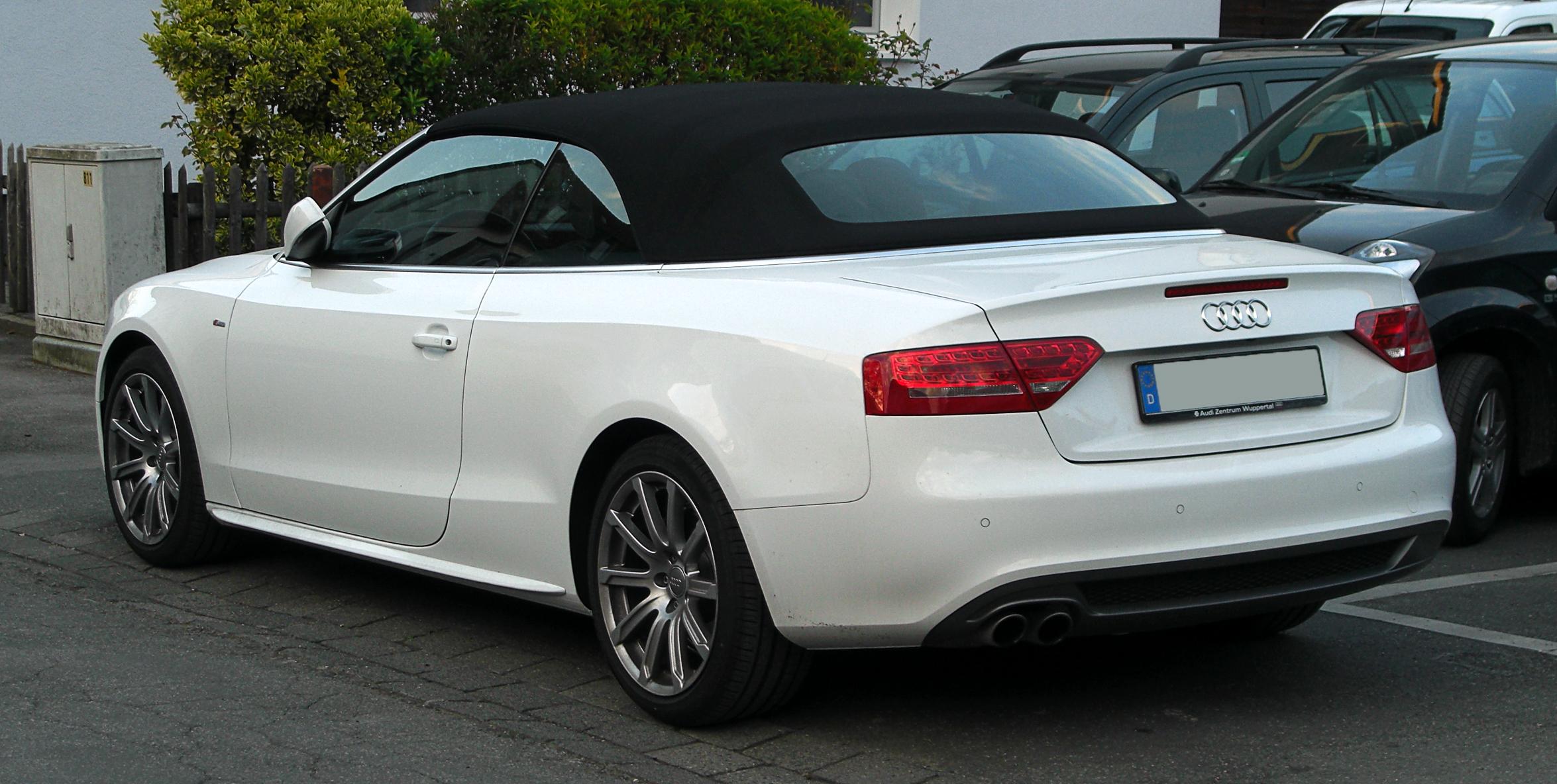 File:Audi A5 Cabriolet 1.8 TFSI S-line – Heckansicht, 15. April 2011 ...