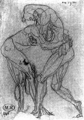 Auguste Rodin o.J., Zeichnung - Quelle: WikiCommons