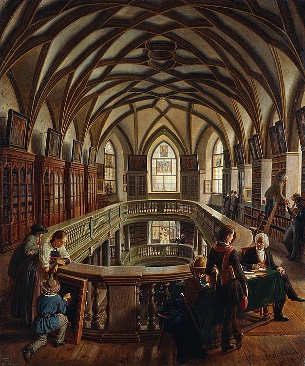 Aurèle Robert - Die Stadtbibliothek in der Wasserkirche.jpg