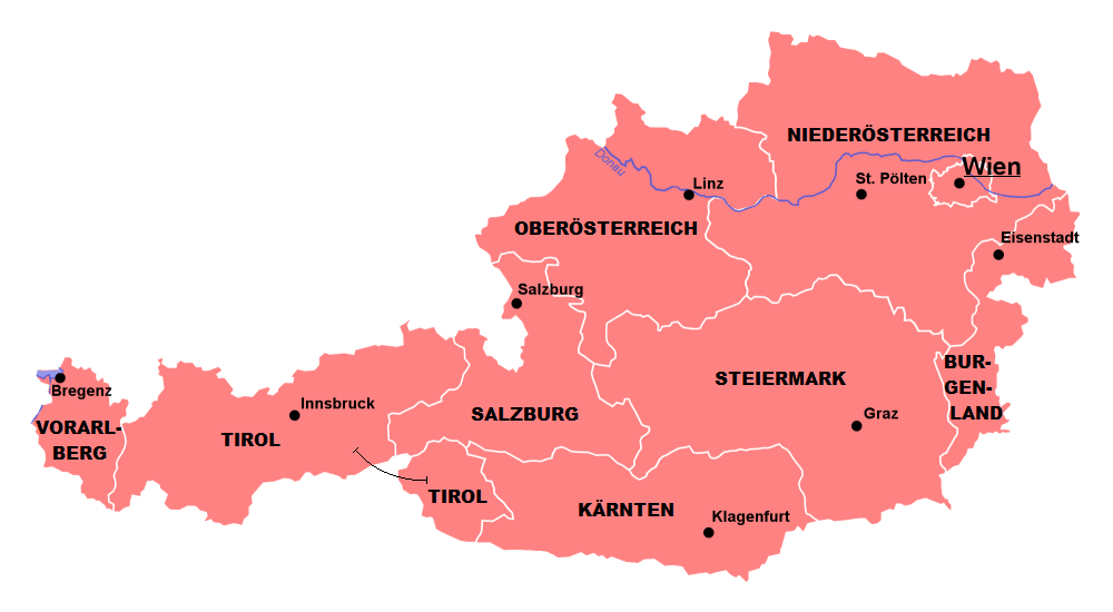 map of austria with cities File Austria States Cities Png Wikimedia Commons map of austria with cities