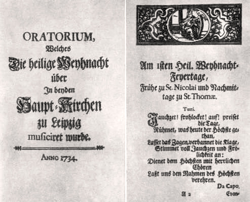 <em>Oratorio de Navidad</em>: impreso impresa del libreto