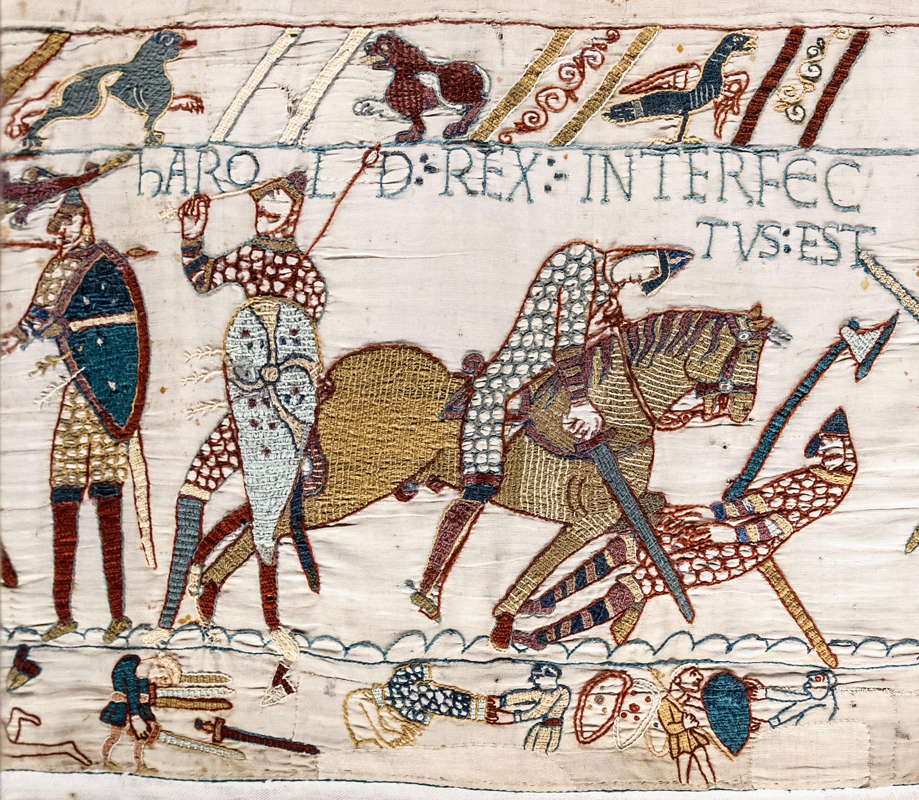 http://upload.wikimedia.org/wikipedia/commons/b/bb/Bayeux_Tapestry_scene57_Harold_death.jpg