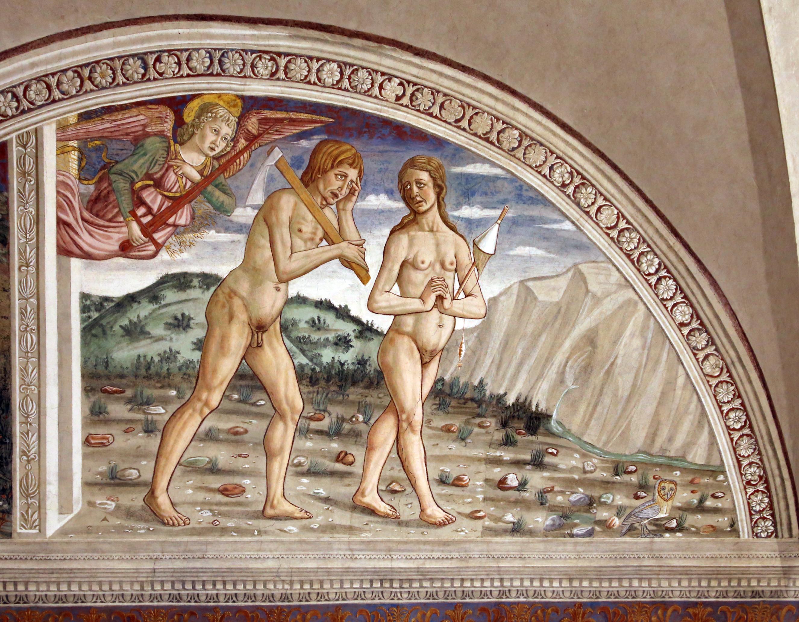 L'Arcangelo Michele lascia Adamo ed Eva e vola via