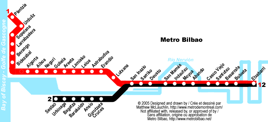 Bilbao Subway Map