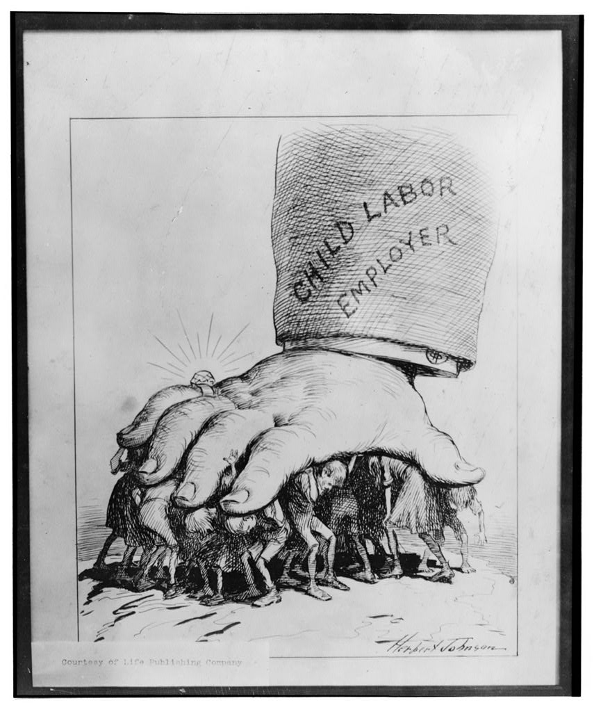 Lewis Hine Anti-Child Labor Cartoon