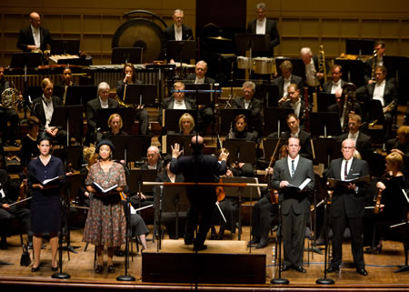 The Dallas Symphony Orchestra, under the direction of Jaap van Zweden, presents the premiere of Steven Stucky's oratorio