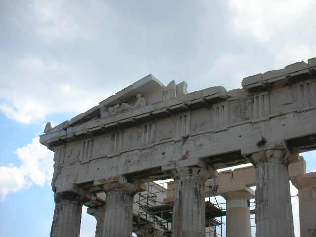 Front sculptire of pathenon