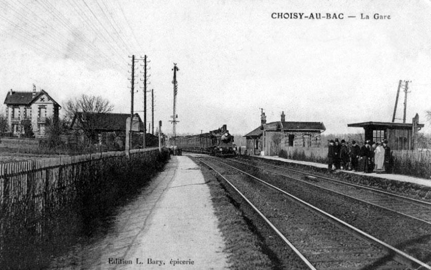 La gare de Choisy-au-Bac vers 1900.