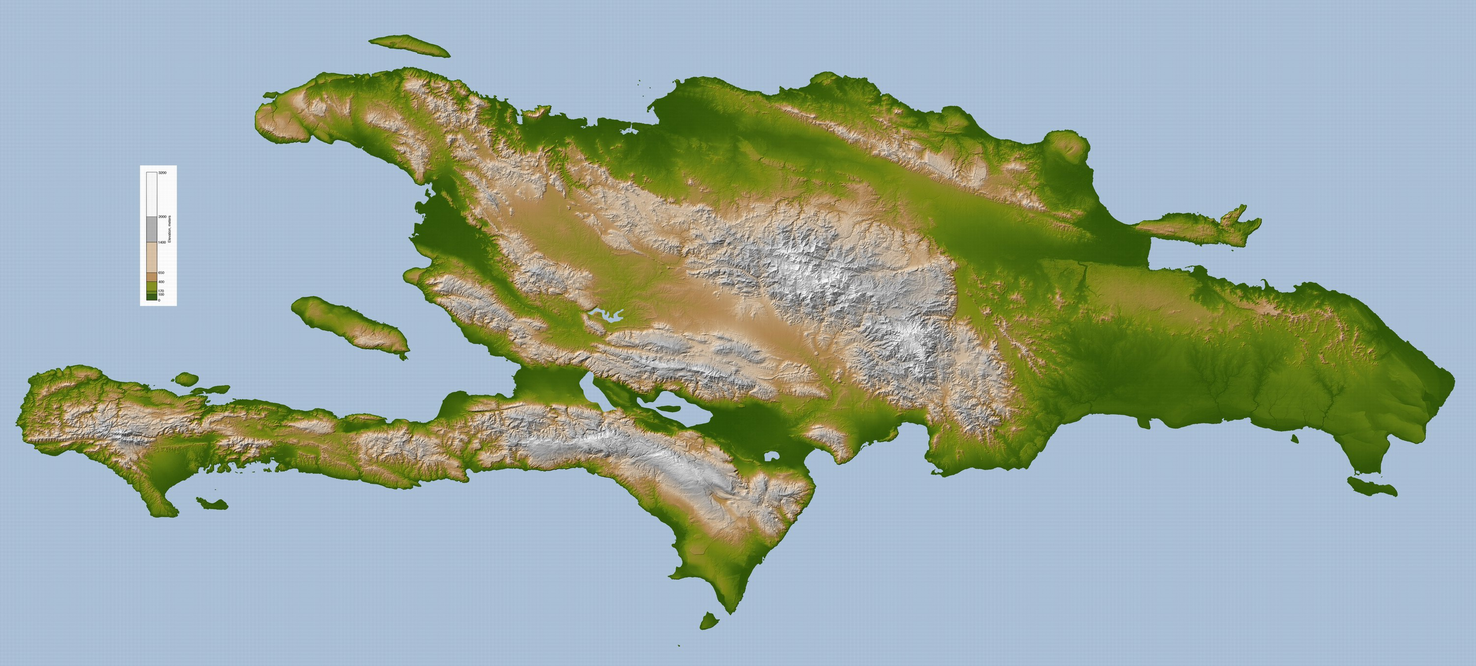 maps of Hispaniola