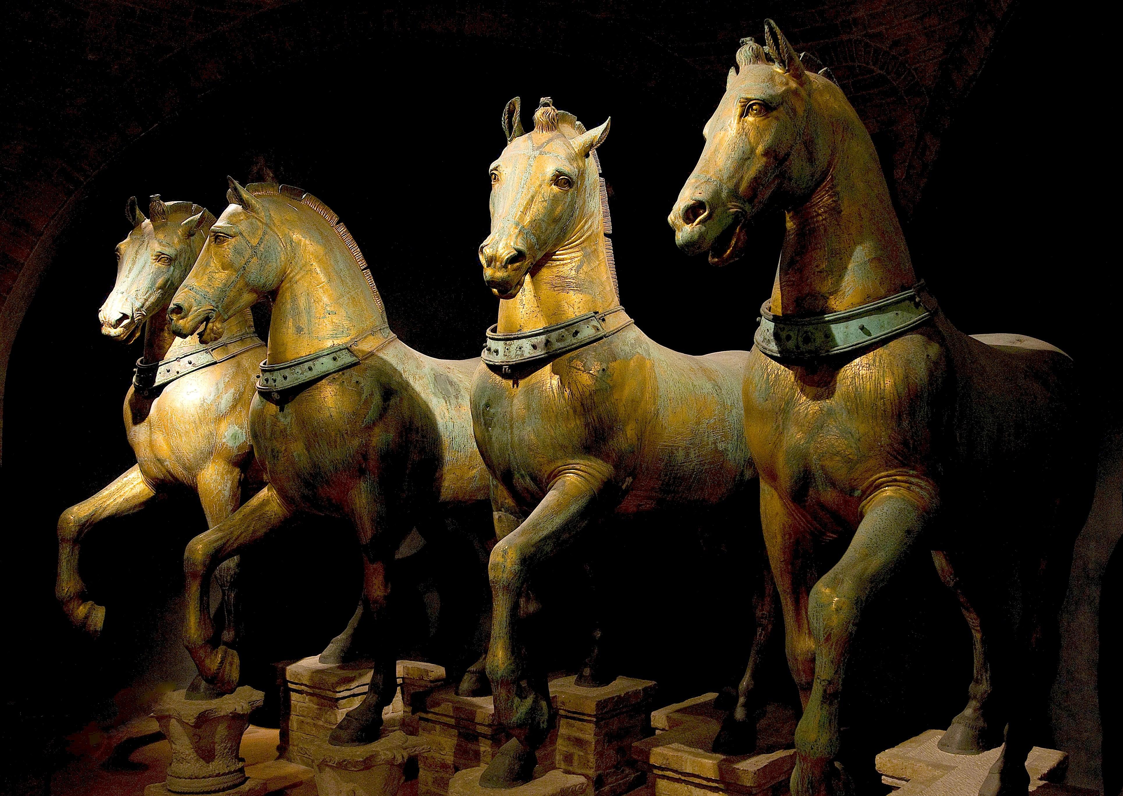 Τα μπρούτζινα άλογα του ιπποδρόμου της Κωνσταντινούπολης. Πηγή: wikimedia