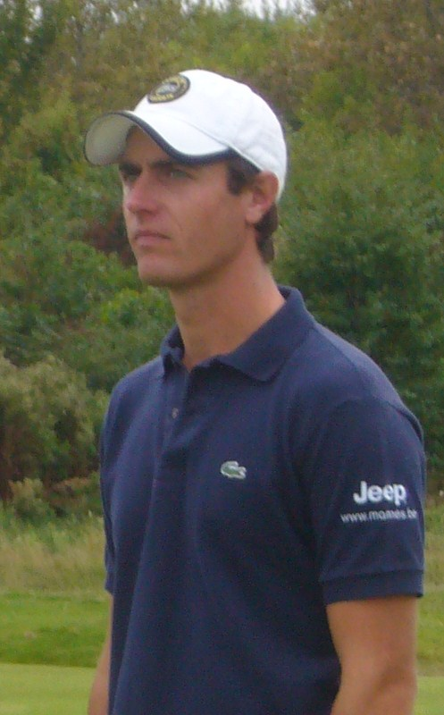English: Belgian golfer Nicolas Colsaerts, win...
