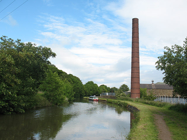 Industrial chimney near Skipton - geograph.org.uk - 1395462