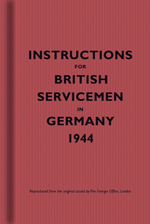 Instructions for British Servicemen in Germany 1944 Cover